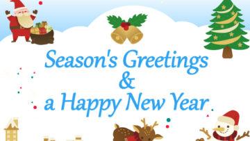 Season's Greetings & a Happy New Year
